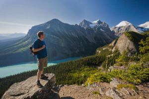 Hiking Lake Agnes Med