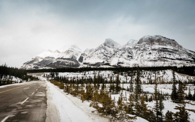 Icefields Parkway Winter View