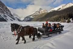 Sleigh Ride Lake Louise Zizka 1H Large