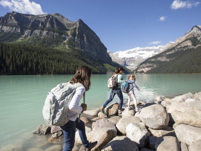 Hiking Lake Louise Noel Hendrickson 2 Horizontal Large