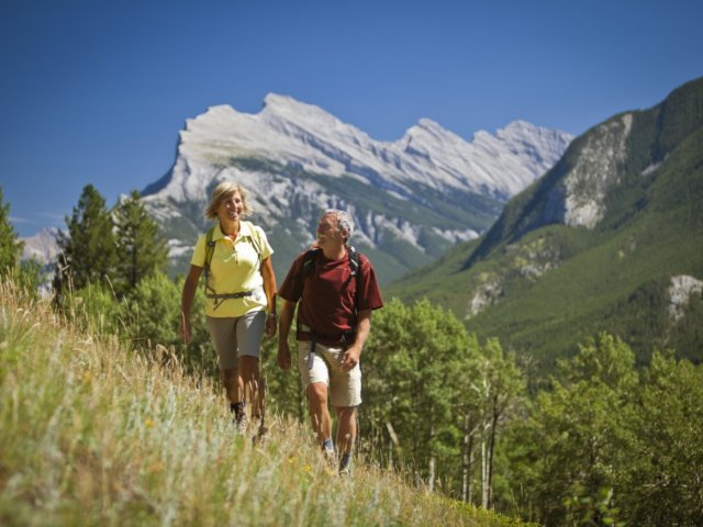 Seniors Hiking Bow Valley Paul Zizka